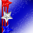 4th of July Patriotic border stars - Stock Photo