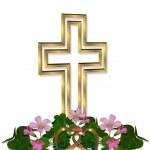 Wedding Invitation Christian Cross — Stock Photo