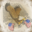 Patriotic Background 4Th July Eagle — Stock Photo