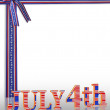 July 4Th background border — Stock Photo