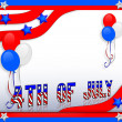 Stock Photo: July 4Th background border