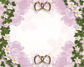 Ivy and Plumeria Floral Wedding Border — Stock Photo