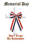 Memorial Day Patriotic Graphic 3D cross — Stock Photo