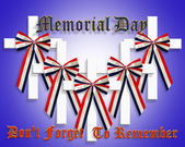 Memorial Day Graphic 3D crosses — Stock Photo