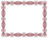 Ornamental Certificate Border Red — Stock Photo