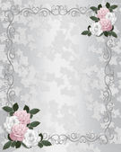 Wedding invitation template Satin roses — Stock Photo