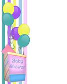 Confine di bambino doccia invito — Foto Stock