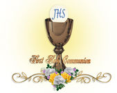 Holy Communion Invitation Background — Stock Photo