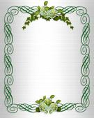 Ivy Hydrangea wedding border — Stock Photo