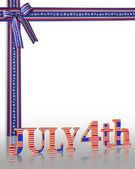 July 4Th background border — Stock Photo
