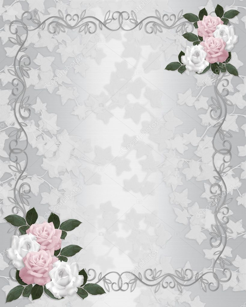 wedding invitation template satin roses stock photo irisangel 2177226. Black Bedroom Furniture Sets. Home Design Ideas