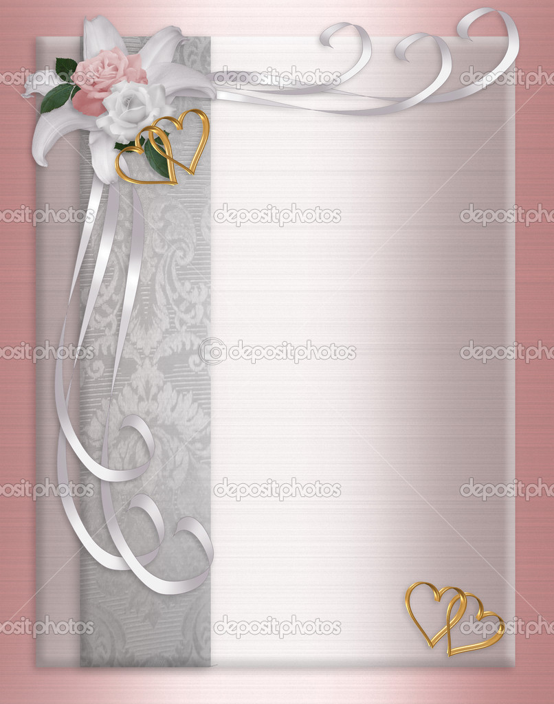 Wedding Invitation Border Satin — Stock Photo © Irisangel #2177264