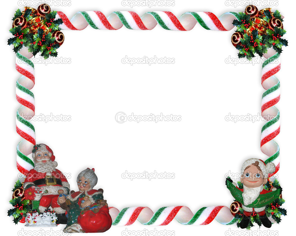 Free Christmas Holiday Border Clip Art