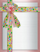 Easter Border background ribbons — Stock Photo