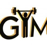 Gym Fitness Logo 3D — Stock Photo