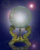 Crystal gazing ball magical — Stockfoto