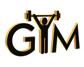 Gym Fitness Logo 3D — Stock Photo