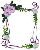 Lavender Roses Wedding Invitation border — ストック写真