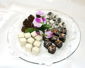 Fancy Petite cakes dessert — Stock Photo