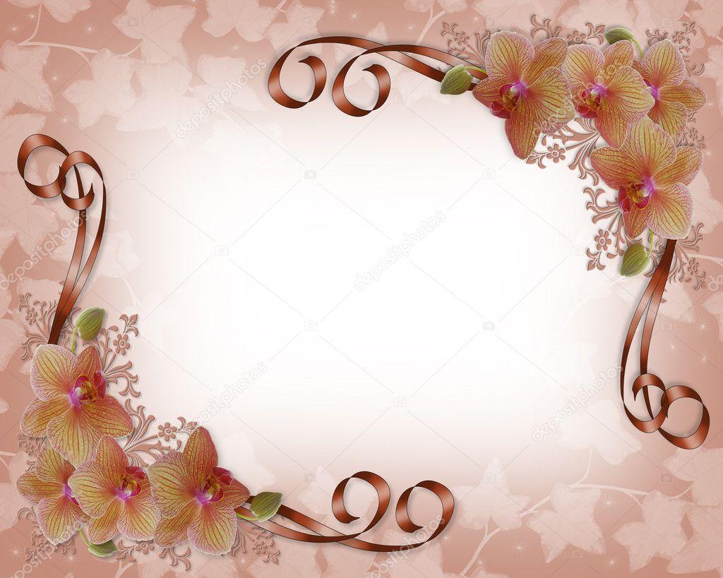 兰花婚礼花边框 — 图库照片08irisangel#2236002