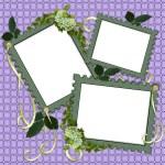 Floral Border Scrapbook album page — Stock Photo #2240027