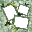 Stock Photo: Floral Border Scrapbook album page