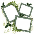 Stock Photo: Floral Border frames Scrapbook page