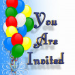 Stock Photo: Birthday Party Invitation background