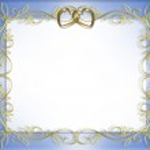 Satin and gold hearts wedding invitation — Stock Photo