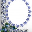 Christmas ribbons photo frame border — Stock fotografie