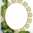 Royalty-Free Stock Photo: Christmas ribbons photo frame border