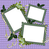 Floral Border Scrapbook album page — Stock Photo
