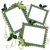 Floral Border frames Scrapbook page — Stock Photo