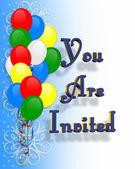 Birthday Party Invitation background — Stock Photo