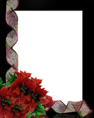 Christmas ribbons frame border — Stok fotoğraf