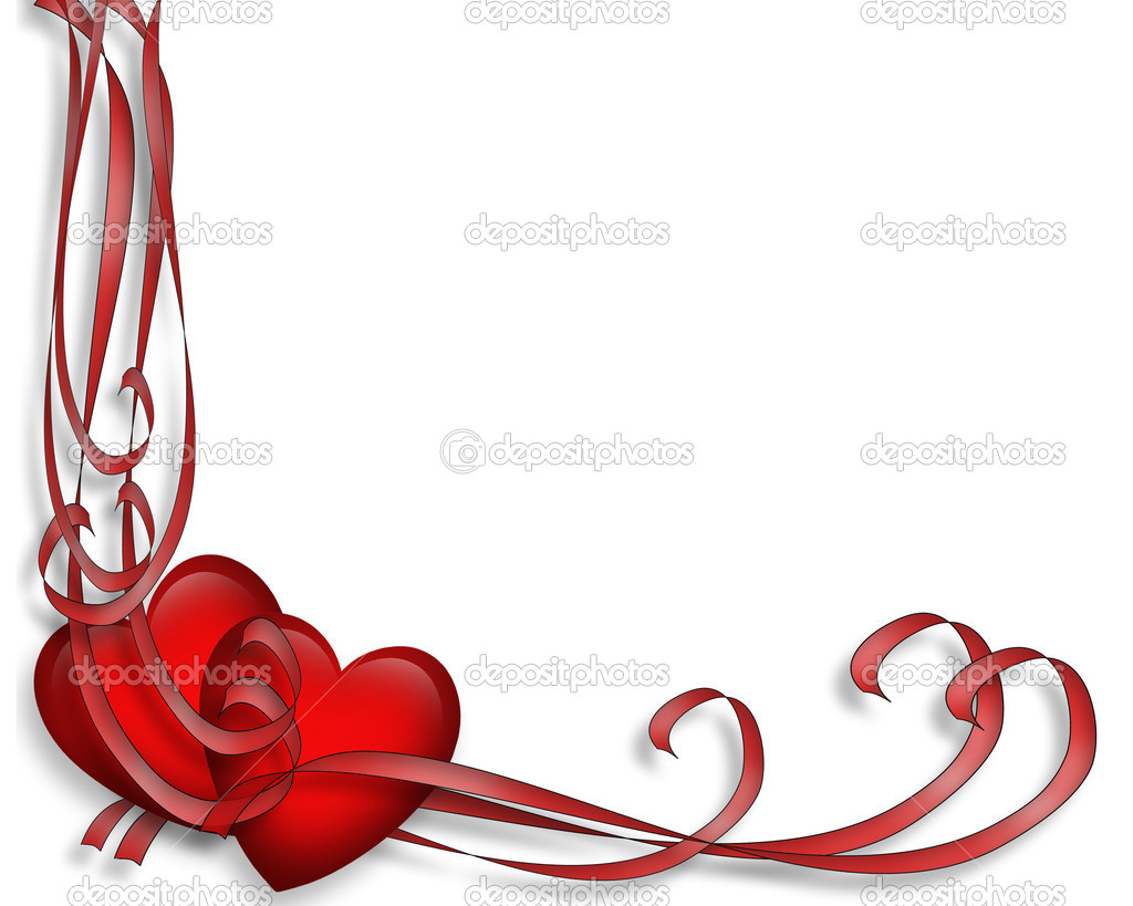 Valentines Day Red Hearts Border — Stock Photo © Irisangel #2241461