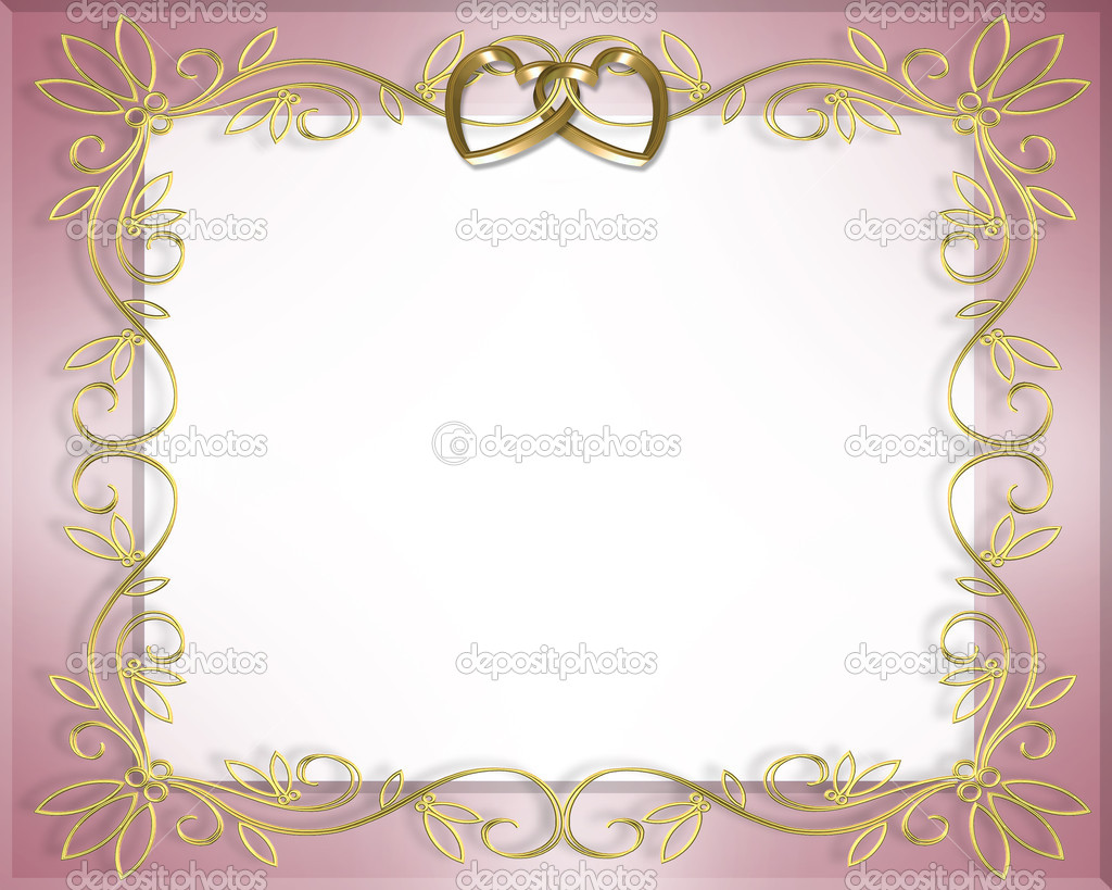 Custom Card Template standard greeting card size template : Satin and gold hearts wedding invitation u2014 Stock Photo u00a9 Irisangel ...