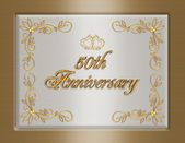 50th golden Wedding Anniversary invitati — Stock Photo