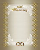 50th Wedding anniversary invitation temp — Stock Photo