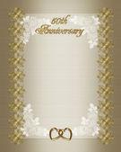 50th Wedding anniversary invitation temp — Stock Photo