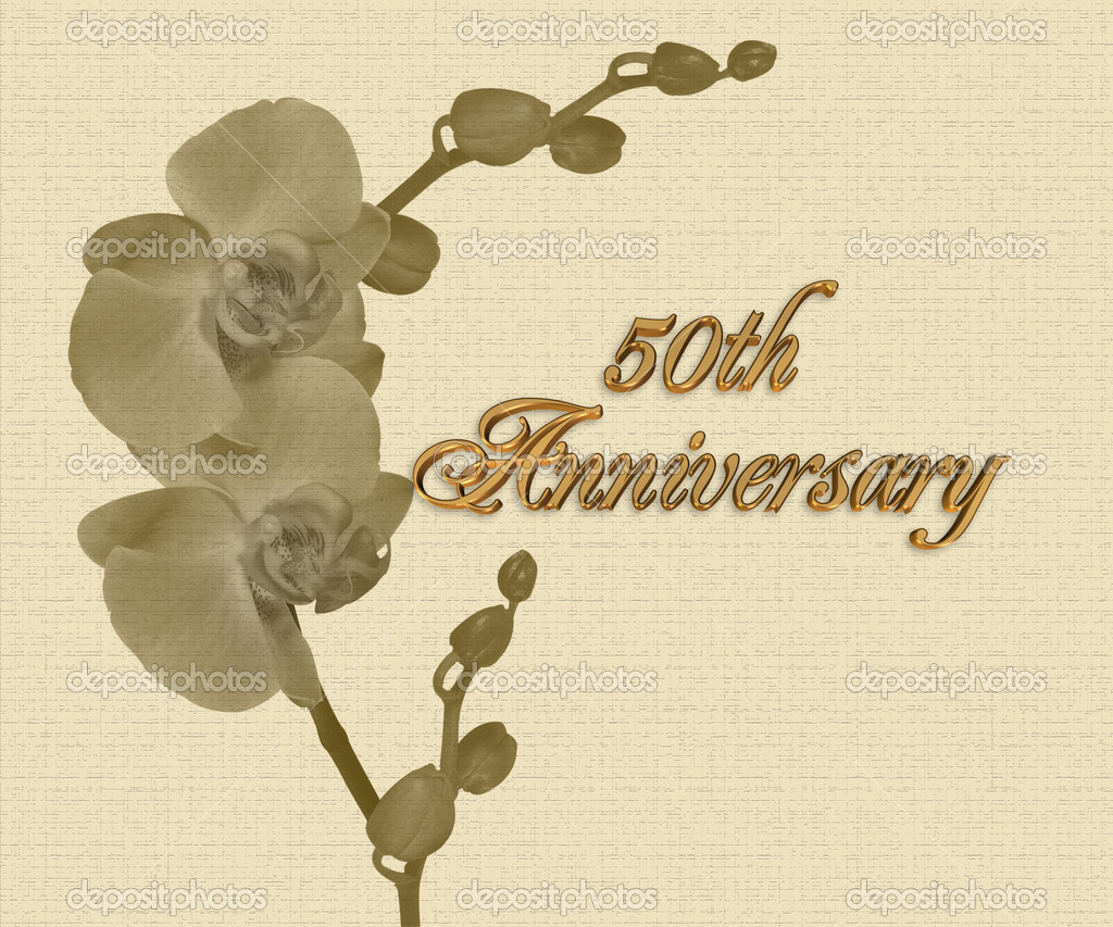 50th anniversary orchids invitation stock photo 169 irisangel