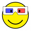 Stock Photo: Smiley with 3D glasses
