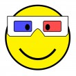 Smiley with 3D glasses — Stock Photo