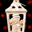 Foto Stock: Christmas candle holder