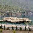 Foto Stock: Prehistoric settlement at Ohrid Lake