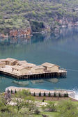 Prehistoric settlement at the Ohrid Lake — Stockfoto