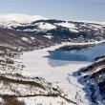 Mavrovo Lake, Macedonia — Stock Photo