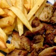 Meat and french fries — Stock Photo #2084334