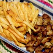 Meat and french fries — Stock Photo #2084595