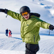 Stock Photo: Snowboarder portrait